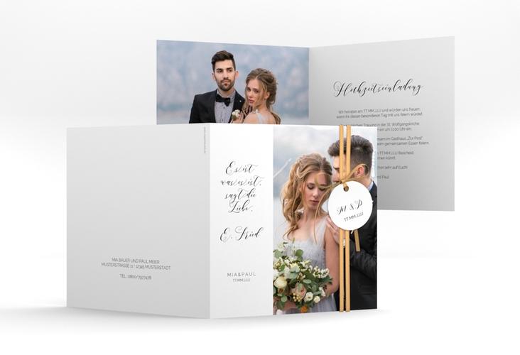 """Hochzeitseinladung """"Paperlove"""" Quadratische Klappkarte"""