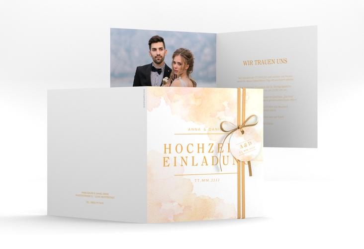 """Hochzeitseinladung """"Blush"""" Quadratische Klappkarte"""