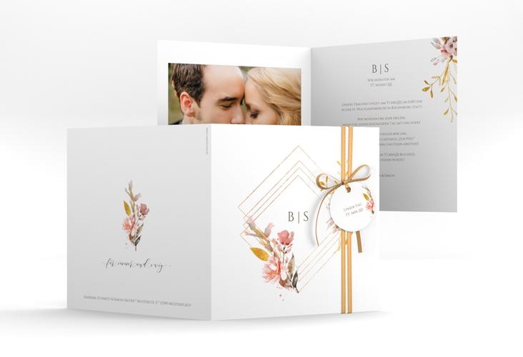 """Hochzeitseinladung """"Rosalie"""" Quadratische Klappkarte"""