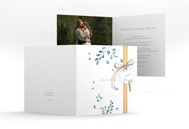 """Hochzeitseinladung """"Precioso"""" Quadratische Klappkarte"""