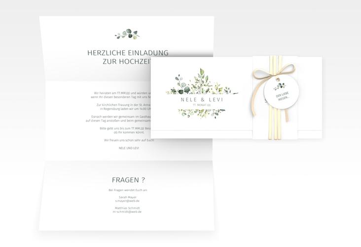 "Hochzeitseinladung ""Enchanthing"" DIN lang Wickelfalz"