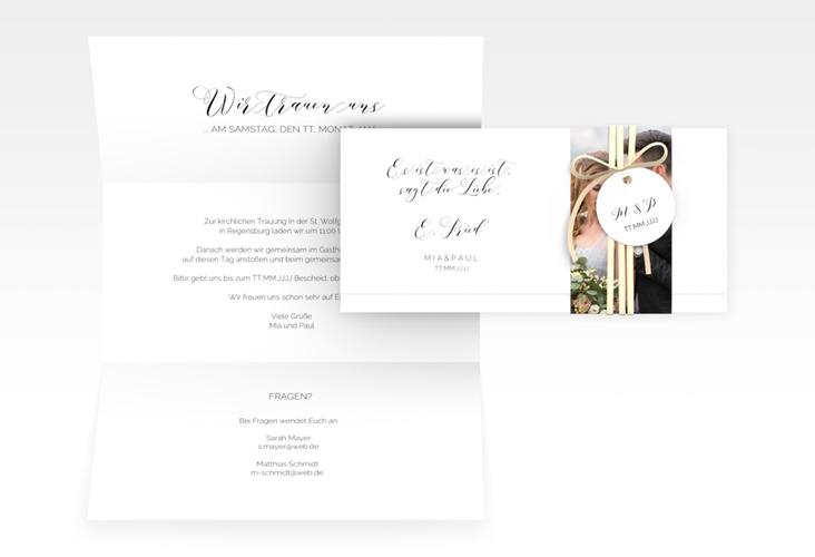 "Hochzeitseinladung ""Paperlove"" DIN lang Wickelfalz"