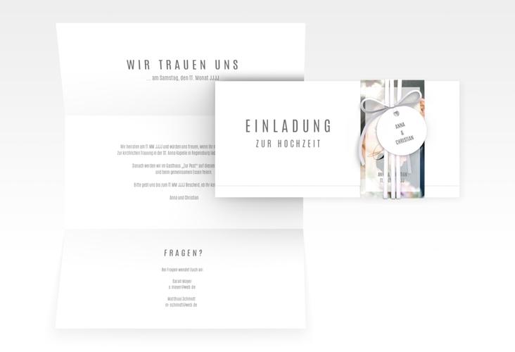 "Hochzeitseinladung ""Amazing"" DIN lang Wickelfalz"