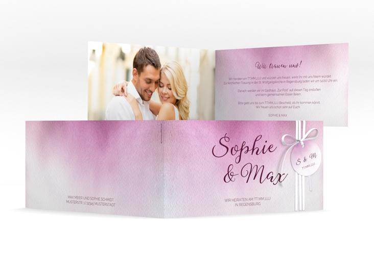 "Hochzeitseinladung ""Ombre"" DIN lang Klappkarte"