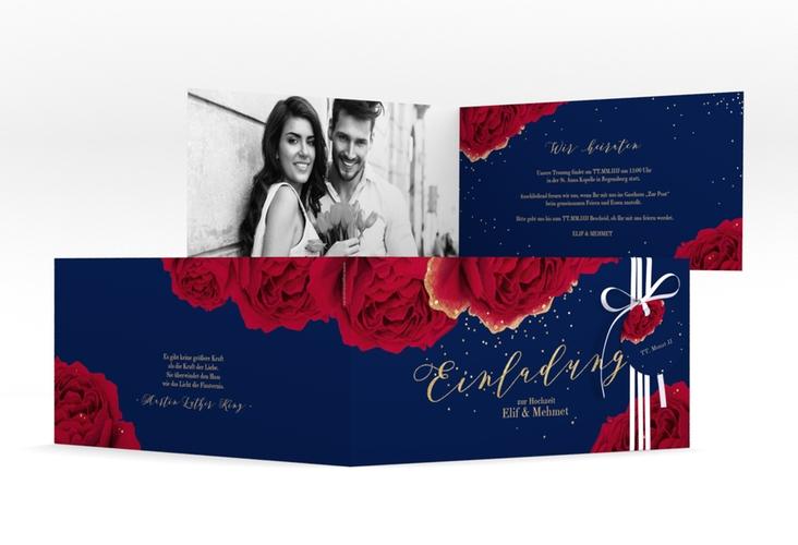 """Hochzeitseinladung """"Cherie"""" DIN lang Klappkarte"""