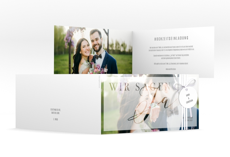 """Hochzeitseinladung """"Amazing"""" DIN lang Klappkarte"""