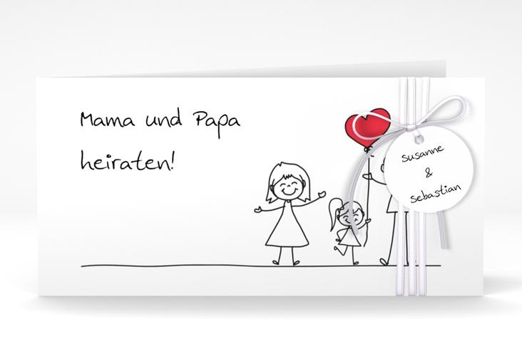 """Hochzeitseinladung """"Familia"""" DIN lang Klappkarte"""