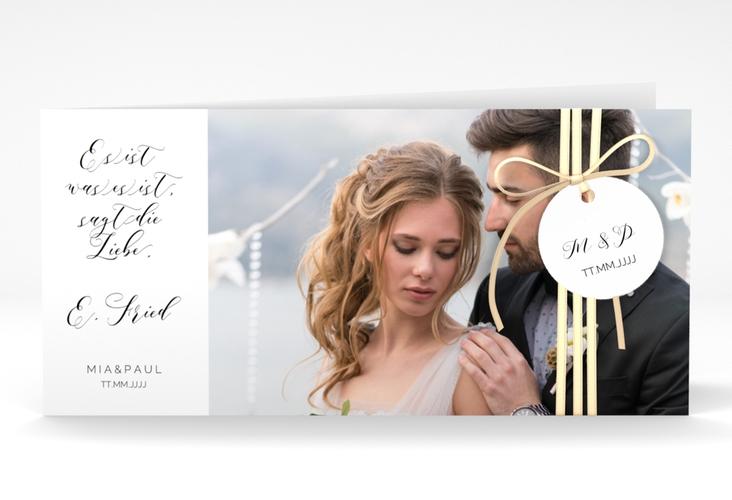 """Hochzeitseinladung """"Paperlove"""" DIN lang Klappkarte"""