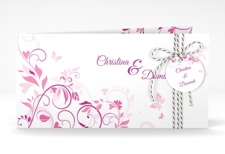 """Hochzeitseinladung """"Lilly"""" DIN lang Klappkarte"""