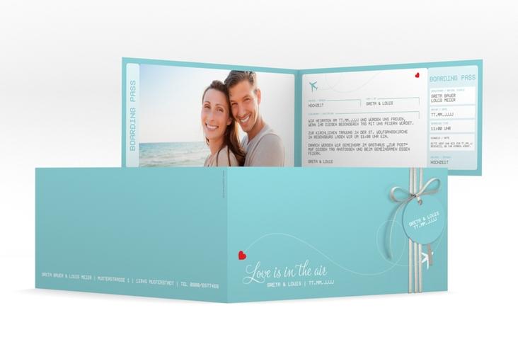 "Hochzeitseinladung ""Weddingpass"" DIN lang Klappkarte"