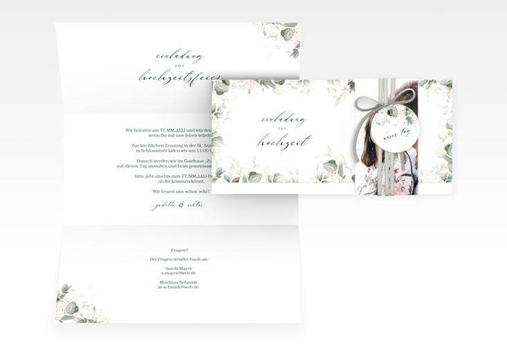 "Hochzeitseinladung ""Poesia"" DIN lang Wickelfalz"