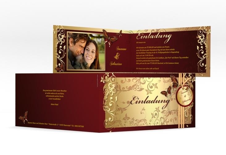 "Hochzeitseinladung ""Toulouse"" DIN lang Klappkarte"