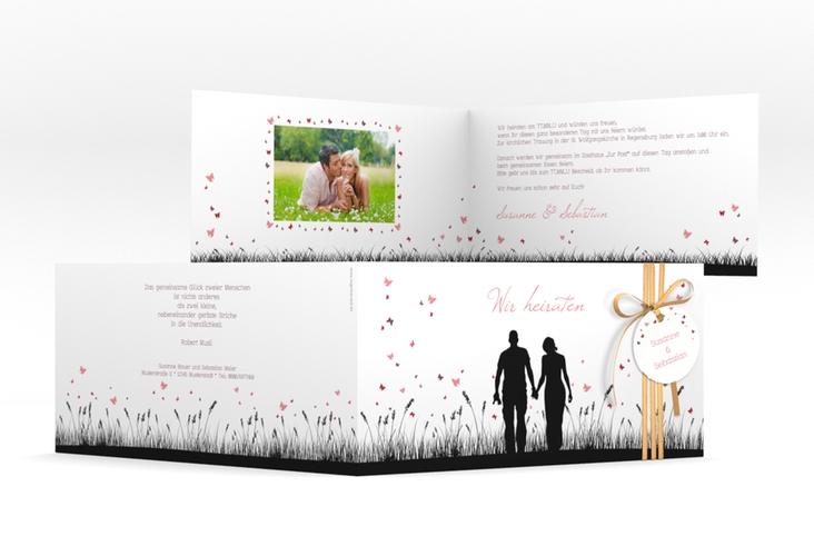 """Einladung Hochzeit """"Rouen"""" DIN lang Klappkarte"""