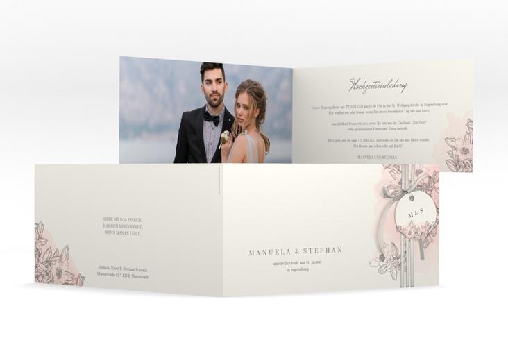 """Hochzeitseinladung """"Artlover"""" DIN lang Klappkarte"""