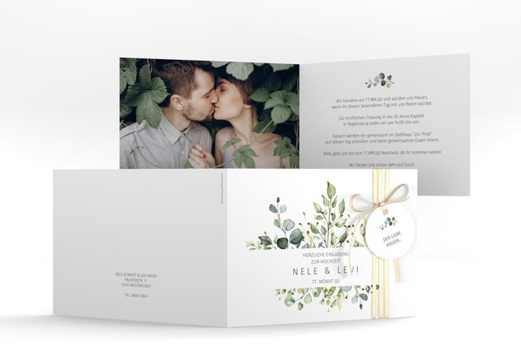"Hochzeitseinladung ""Enchanting"" A6 Klappkarte Quer"