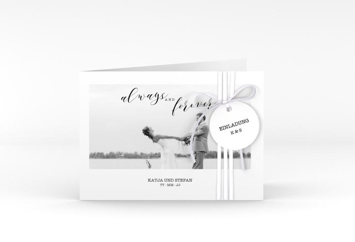 """Hochzeitseinladung """"Photoframe"""" A6 Klappkarte Quer"""