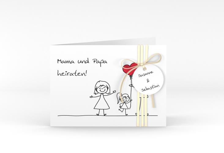 "Hochzeitseinladung ""Familia"" A6 Klappkarte Quer"