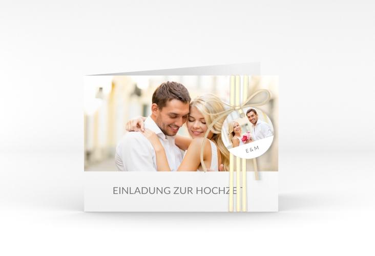 """Hochzeitseinladung """"Vista"""" A6 Klappkarte Quer"""