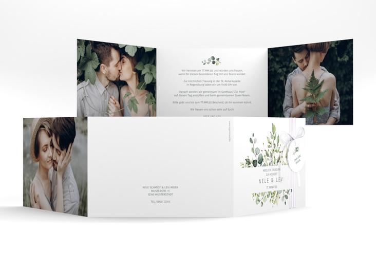 """Hochzeitseinladung """"Enchanting"""" A6 doppelt geklappt"""