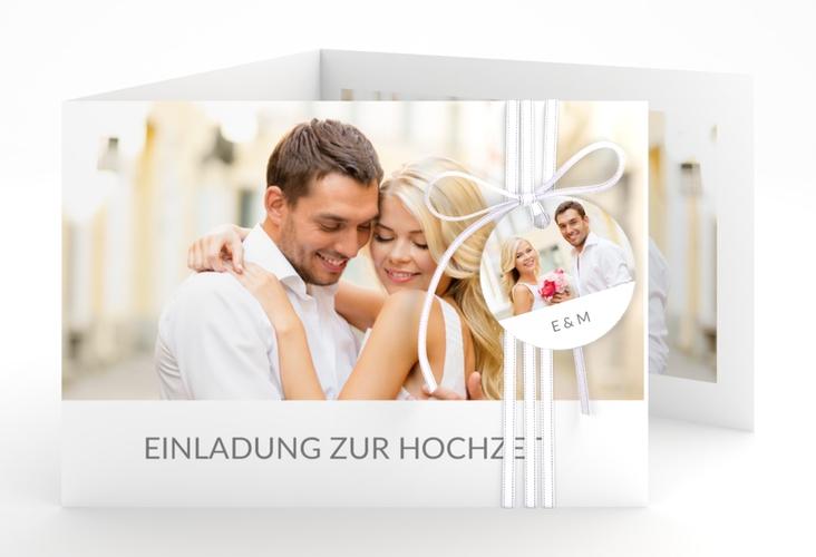"""Hochzeitseinladung """"Vista"""" A6 doppelt geklappt weiss"""
