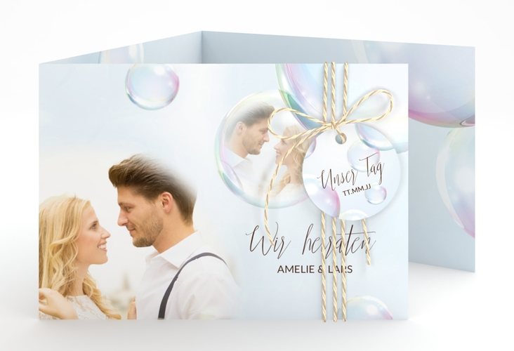 """Hochzeitseinladung """"Dreams"""" A6 doppelt geklappt"""