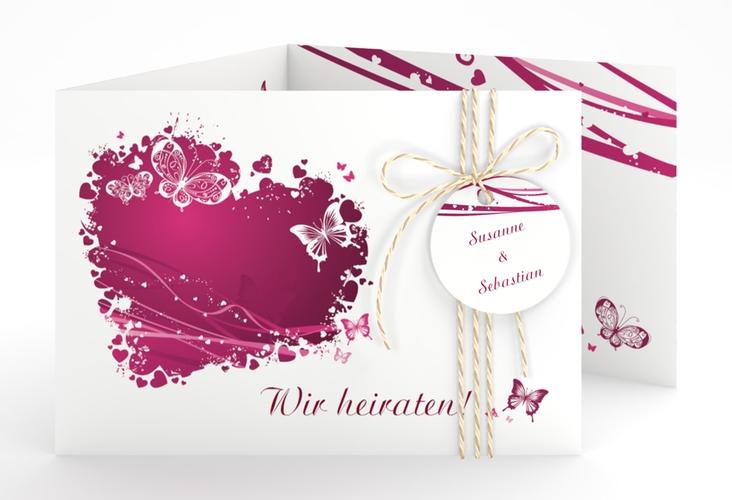 """Hochzeitseinladung """"Mailand"""" A6 doppelt geklappt"""