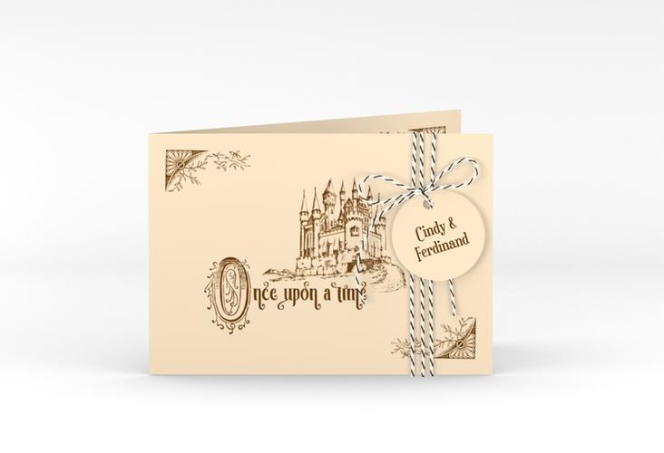"""Hochzeitseinladung """"Storybook"""" A6 Klappkarte Quer"""