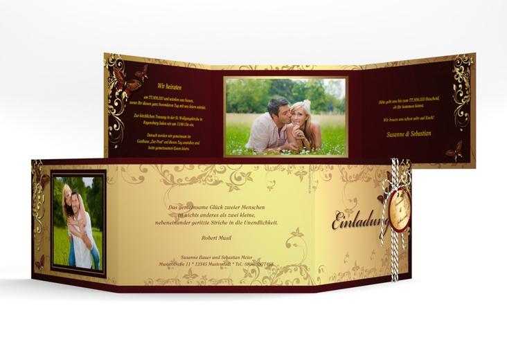 """Hochzeitseinladung """"Toulouse"""" A6 doppelt geklappt"""