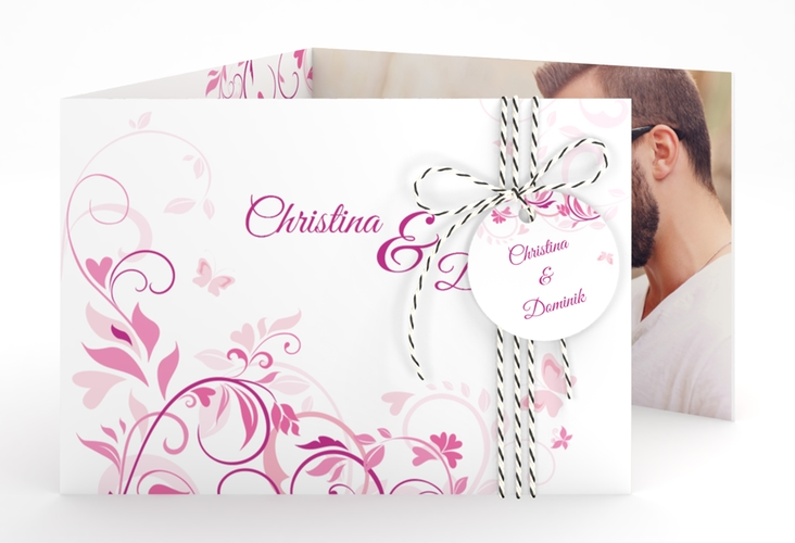 """Hochzeitseinladung """"Lilly"""" A6 doppelt geklappt"""