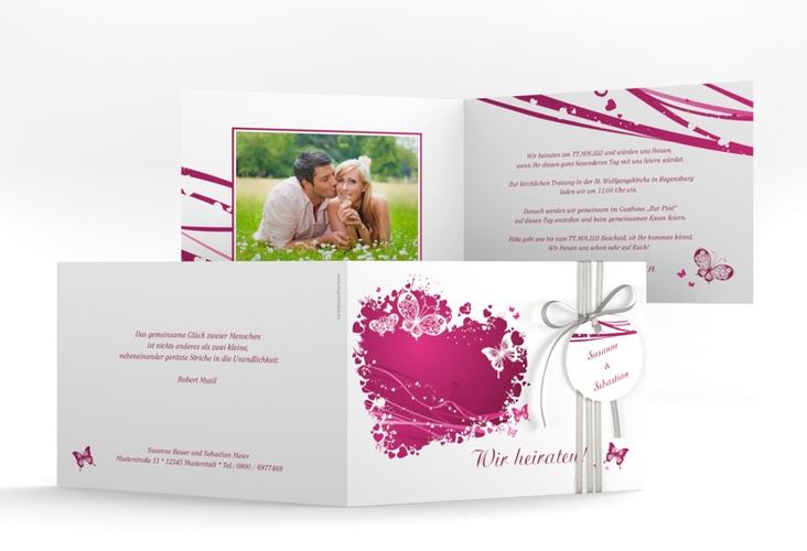 """Hochzeitseinladung """"Mailand"""" A6 Klappkarte Quer"""