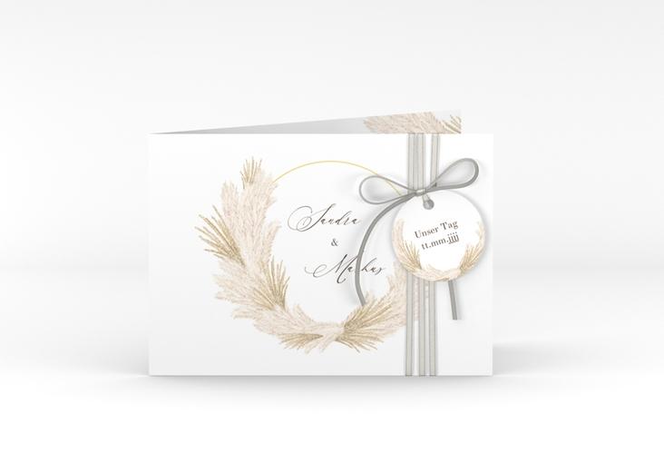 """Hochzeitseinladung """"Pumila"""" A6 Klappkarte Quer"""