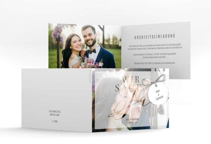 """Hochzeitseinladung """"Amazing"""" A6 Klappkarte Quer"""