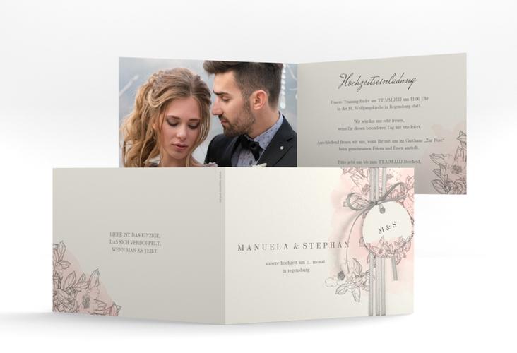 """Hochzeitseinladung """"Artlover"""" A6 Klappkarte Quer"""