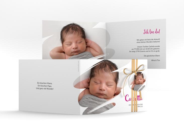 "Geburtskarte ""Wunder"" A6 Klappkarte Quer"