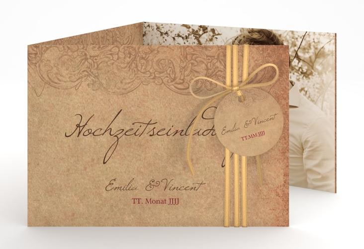 """Hochzeitseinladung """"Fairytale"""" A6 doppelt geklappt"""