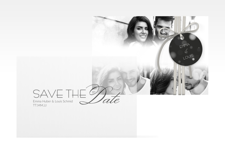 """Save the Date Deckblatt Transparent """"Bokeh"""" A6 Deckblatt Transparent"""