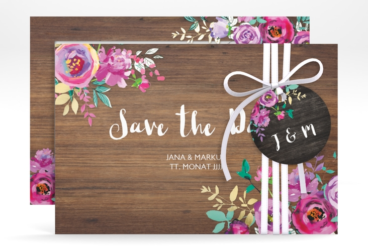 "Save the Date-Karte ""Flourish"" A6 quer"
