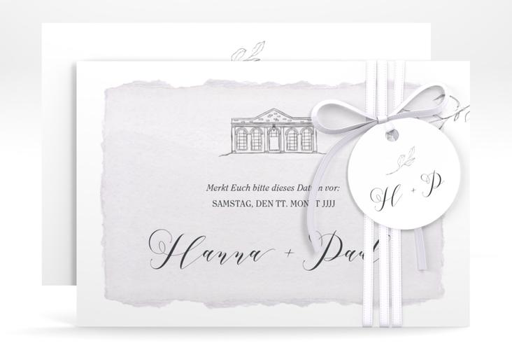 "Save the Date-Karte ""Villa"" A6 quer"