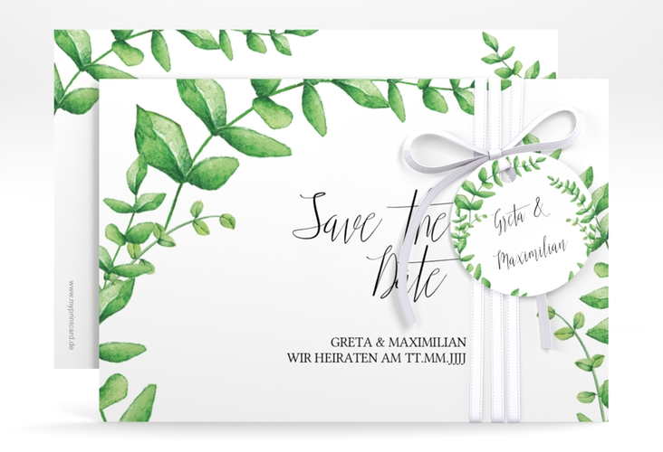 "Save the Date-Karte ""Botanic"" A6 quer"
