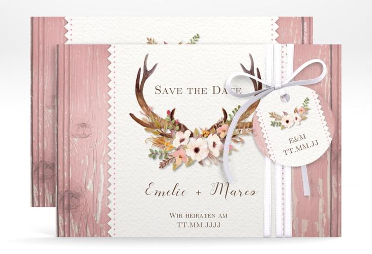 """Save the Date-Karte Hochzeit """"Heimatjuwel"""" A6 quer"""