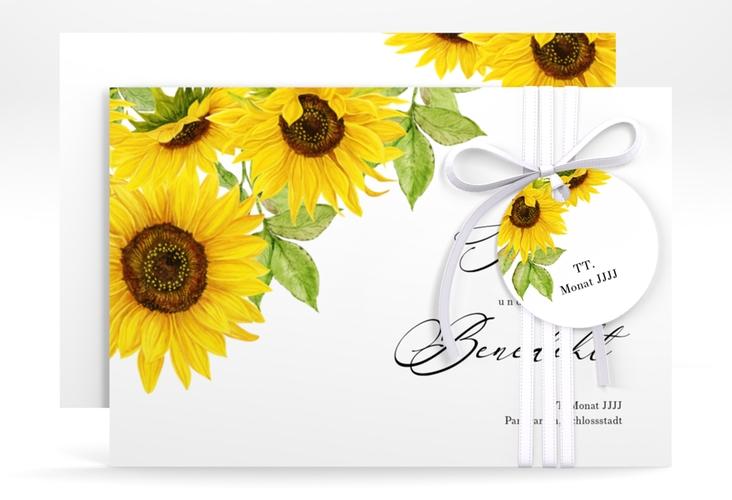 "Save the Date-Karte ""Sonnenblume"" A6 quer"