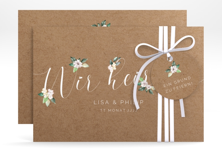 "Save the Date-Karte ""Inlove"" A6 quer beige"