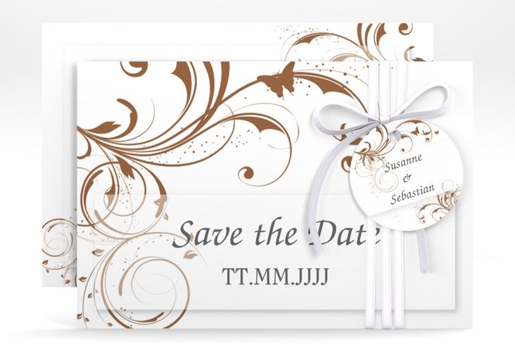 "Save the Date-Karte Hochzeit ""Palma"" A6 quer"