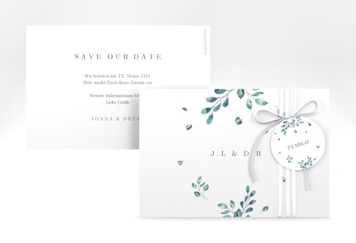 "Save the Date-Karte ""Precioso"" A6 quer weiss"