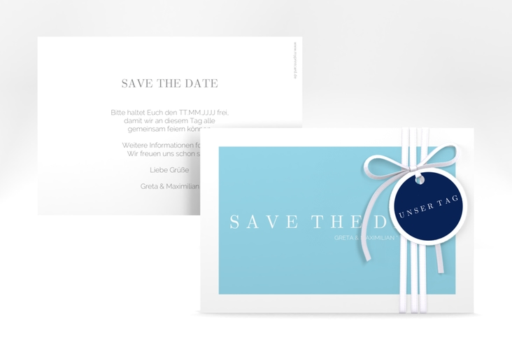 "Save the Date-Karte ""Simply"" A6 quer"