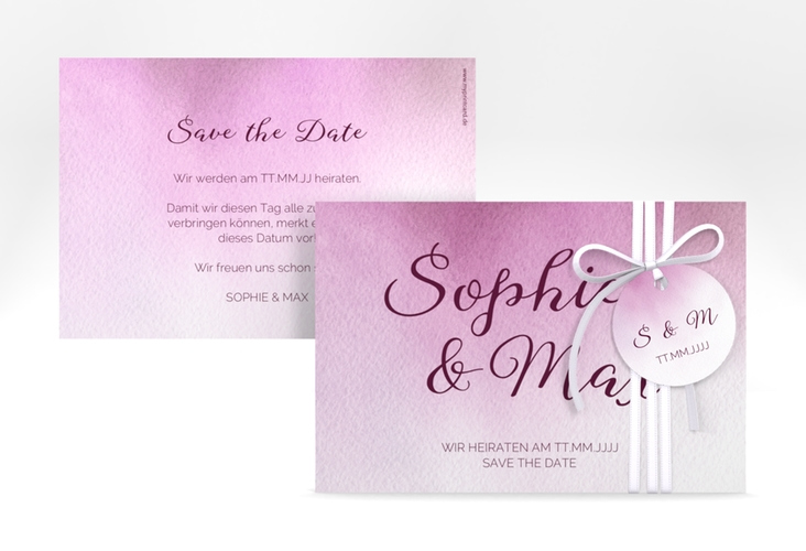 "Save the Date-Karte ""Ombre"" A6 quer"
