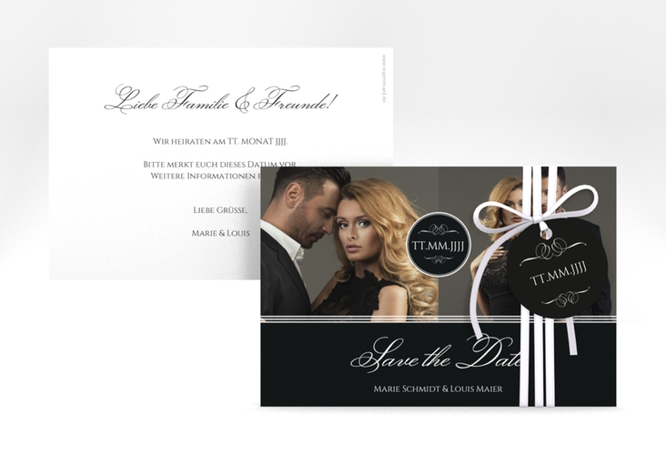 "Save the Date-Karte ""Elegancy"" A6 quer"