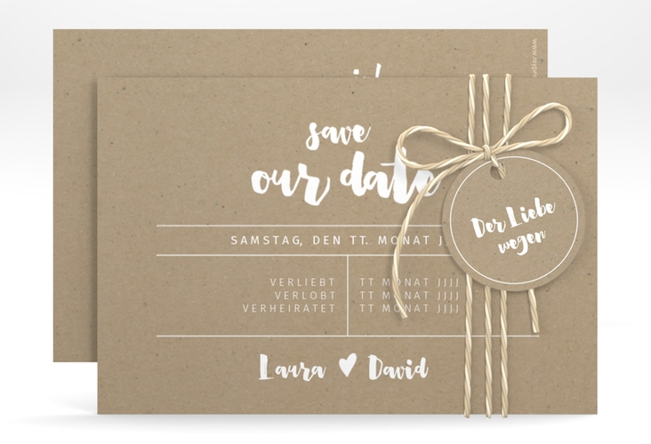 "Save the Date-Karte ""Letterbox"" A6 quer"