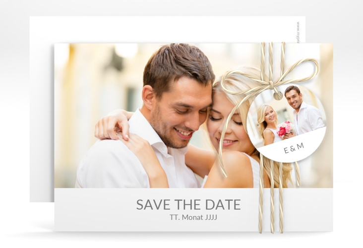 "Save the Date-Karte Hochzeit ""Vista"" A6 quer"