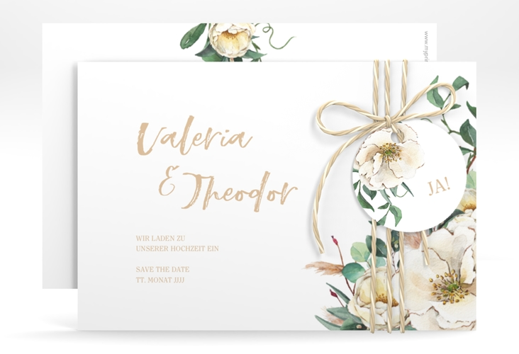 """Save the Date-Karte """"Ivory"""" A6 quer"""
